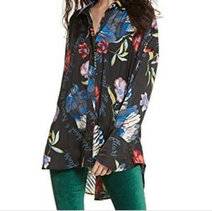 🆕️ Free People Floral Oversized Tunic Top
